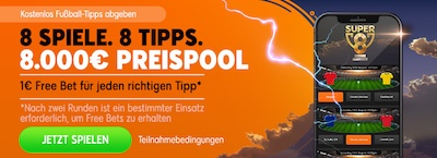 888sport up for 8 Tippspiel