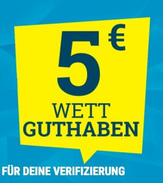 Sporwetten.de Gratiswette 5€