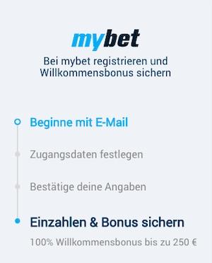 MyBet Registrierung