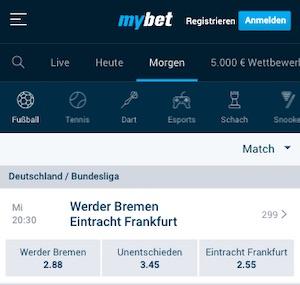 MyBet Werder Bremen vs. Eintracht Frankfurt