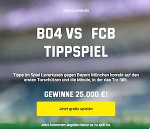 Unibet Leverkusen Bayern Torschützen Tippspiel
