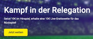 Unibet Relegation 10 Euro FreeBet