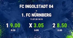 Bet at Home Ingolstadt Nürnberg Quotenboost