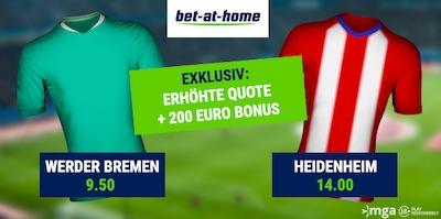 Bet-at-Home Relegation Werder Heidenheim Quoten