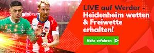 Bahigo Werder gegen Heidenheim Freiwetten