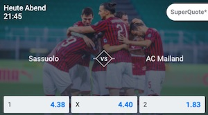 Betano Sassuolo Milan SuperQuote