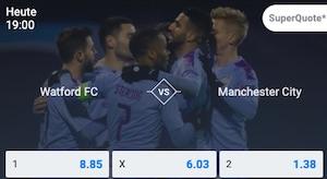 Betano Watford Manchester City Super Quote