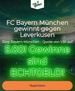 Mr. Green Bayern Pokal Finale 2020 Quote