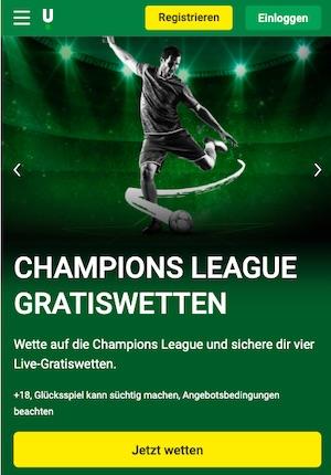 Unibet Champions League Live Gratiswetten