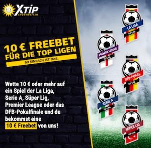 Xtip Top Ligen 10 Euro gratis
