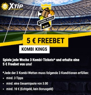 XTiP Kombi Kings 5€ FreeBet