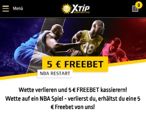 XTiP NBA FreeBet 5 Euro