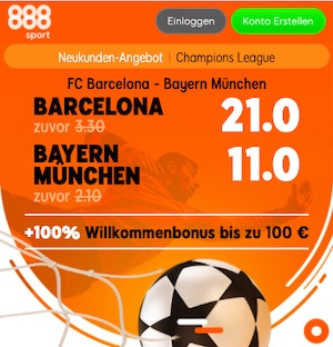888sport Barca Bayern Quoten