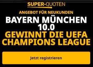 Betfair Bayern gewinnt die Champions League Boost