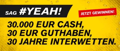 Interwetten 30 Euro Gutschein