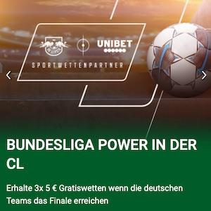 Unibet Bundesliga Power Champions League Gratiswetten