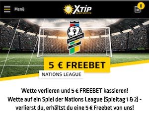 XTiP Nations League 5 Euro FreeBet