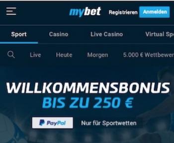 mybet bonus 250€