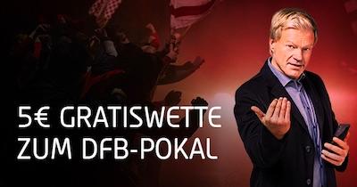 Tipico DFB Pokal 5 Euro Gratiswette