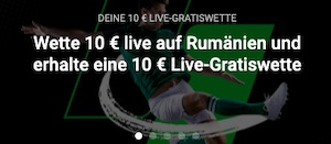 Österreich Rumänien Unibet 10€ Euro Gratis