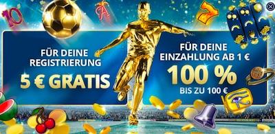 Sunmaker 5 Euro gratis für deine Registrierung