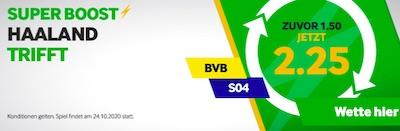 Betway Erling Haaland trifft gegen Schalke Super Boost