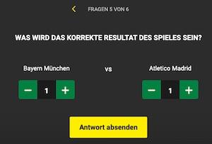 Unibet Bayern Atletico Tippspiel