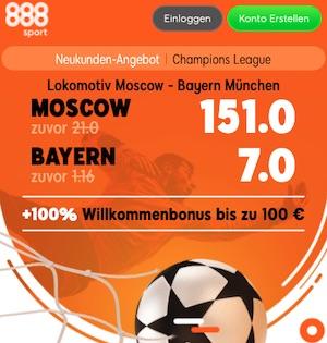 888sport Lok Moskau Bayern Quote Boost