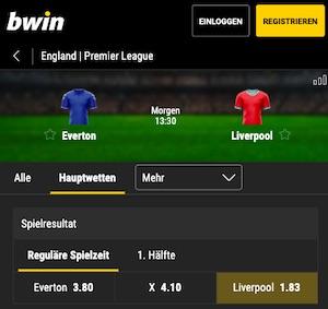 Bwin Premier League Everton Liverpool Quoten