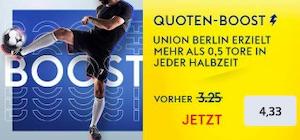 SkyBet Union Berlin Mainz 05 Quoten Boost