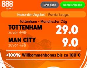 888sport Tottenham Man City Boost