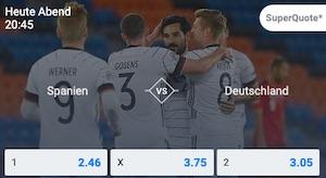 Betano Spanien Deutschland Super Quoten