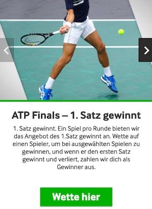 Betway ATP Finals 1. Satz gewinnt
