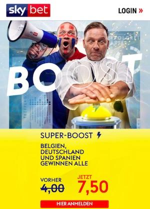 Sky Bet Belgien Deutschland Spanien Super Boost