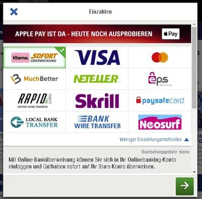 Skybet Zahlungen Übersicht