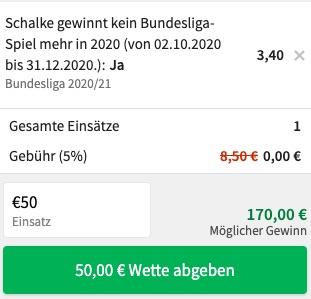 Tipico Schalke Kein Sieg 2020 Quoten
