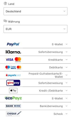 Bet365 Einzahlungsmethoden