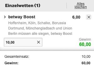 Betway DFB Pokal Buli Boost