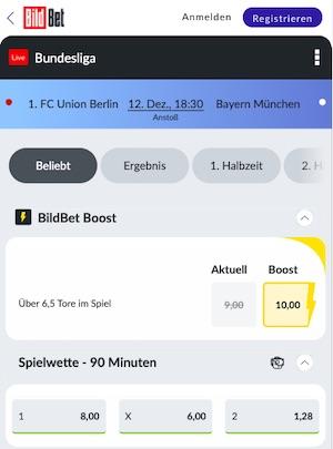 Bildbet Bundesliga Quoten