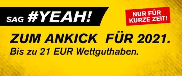 Interwetten 21 Euro Gutschein