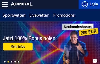 admiralbet bonus neu