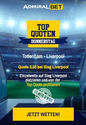 Tottenham Liverpool Top Quote Admiralbet