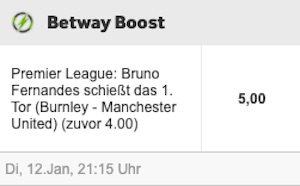 Betway Burnley Manchester United Boost