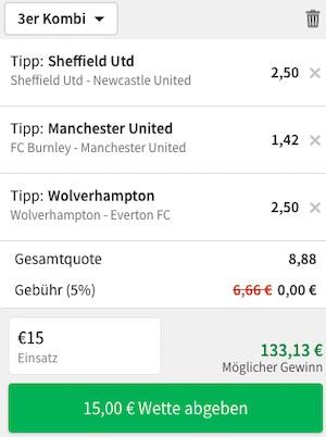 Tipico Premier League Kombiwette