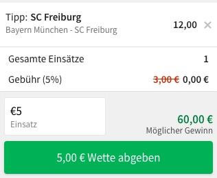 Bayern Freiburg Quoten Tipico