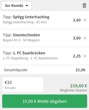 tipico dritte liga top quoten
