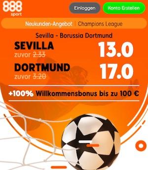 Sevilla Dortmund 888sport Quoten