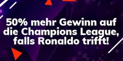 Bahigo Ronaldo Tor 50% mehr Gewinn