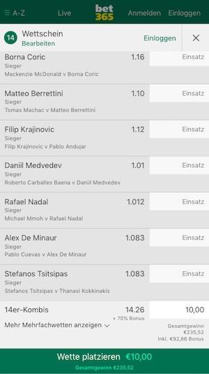 Bet365 Tennis Bonus Australian Open