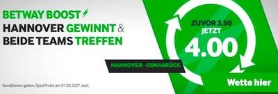 Betway Hannover Osnabrück Boost